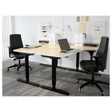Ikea L Shaped Desk Black by Bekant Corner Desk Right Sit Stand Black Brown Black Ikea