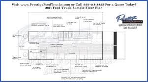 100 20 Trucks Custom Food Truck Floor Plan Samples Prestige Custom Food Truck