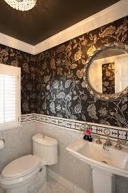 Brown Mosaic Bathroom Mirror by Herringbone Mosaic Tile Powder Room Traditional With Bathroom