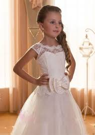 communion party dress for junior girls princess cap sleeves scoop