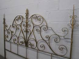 White Wrought Iron King Size Headboards by Wrought Iron Italian Gold Gilt King Size Headboard For Sale At 1stdibs