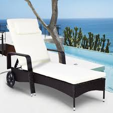 Costway Outdoor Chaise Lounge Chair Recliner Cushioned Patio Furniture  Adjustable Wheels Safavieh Inglewood Brown 1piece All Weather Teak Outdoor Chaise Lounge Chair With Yellow Cushion Keter Pacific 1pack Allweather Adjustable Patio Fort Wayne Finds Details About Wooden Outindoor Lawn Foldable Portable Fniture Pat7015a Loungers By Best Choice Products 79x30inch Acacia Wood Recliner For Poolside Wslideout Side Table Foampadded Cambridge Nova White Frame Sling In Navy Blue Diy Chairs Ana Brentwood Mid20th Century British Colonial Fong Brothers Co 6733 Wave Koro Lakeport Cushions Onlyset Of 2beige