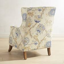 alec blue floral wing chair goodglance
