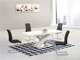 100 White Gloss Extending Dining Table And Chairs Harmony High