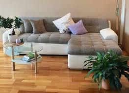 sofa eckcouch wohnzimmer grau weiß l form