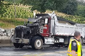 100 Truck Crashes Video VIDEO Dump Truck Catches On Fire In Abbotsford Surrey NowLeader