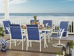 Sears Harrison Patio Umbrella by Garden Oasis Harrison 7 Pc Dining Set Only 257 29 At Sears