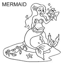 Letter M For Mermaid Coloring Page