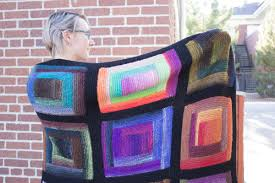Leslie s Paintbox Log Cabin Blanket Knitting Project Detail at