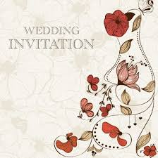 Free Vintage Wedding Invitation Card With Floral Background 01