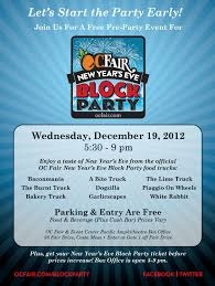 Free Pre-Party Event For The OC Fair New Year's Eve Block Party ... Kevineats Oc Fair Hamburger Chdown Giveaway Costa Mesa Ca Orange County Fair Kicks Off With Teresting Fried Foods Abc7com Line Up 1128 1129 Looking For Food Trucks Eating My Way Through New Food Items To Try At The 2016 The Biggest Most Insane List Of Foods Youll Ever Read Having A Great Time Cbs Los Angeles Filewocawekchristmas Trucksjpg Wikimedia Commons 2015 Promotions And Free Tickets Contest Danis Nibbles Of Tidbits Blogoc Years Eve Block Party Baconafair Booth 2012 Decadent Deals Heres Pair Our Carnitas Veggie Tacos As Served Last Night On
