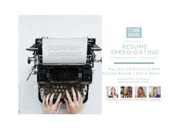 Resume Speed Dating   By Broad Shoulders Chicago - 9 MAY 2019
