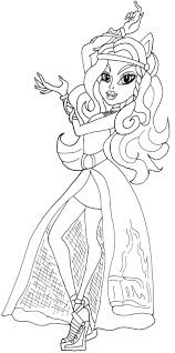 Monster High 13 Wishes Clawdeen Coloring Pages