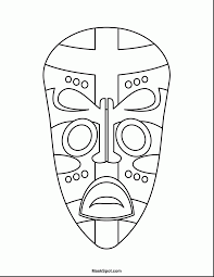 Beautiful African Mask Coloring Pages With Africa And Animals