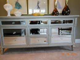 Furniture Mirrored Nightstand Cheap With Nine Drawers For Bedroom