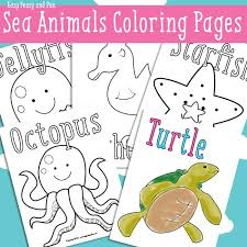 Ocean And Sea Animals Coloring Pages