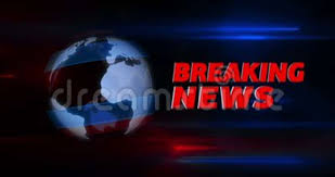 Breaking News Broadcast Title Intro With Globe In Background Stock Video
