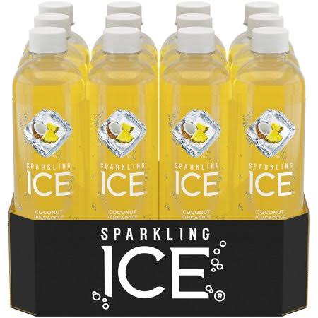 Sparkling Ice Naturally Flavored Sparkling Water - Coconut Pineapple, 17oz, 12ct