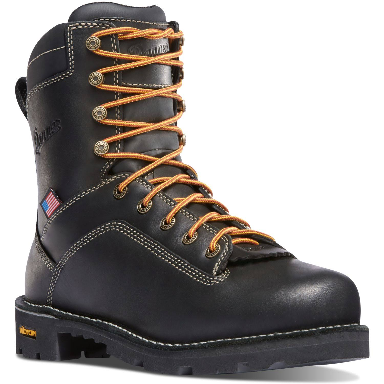 Danner Men's Quarry USA Alloy Toe Work Boot - Black, 9.5 US