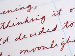 Writing Sample Parker Sonnet Fountain Pen Gold Nib Diamine Ochre Wonder Pens Blog Wonderpensca