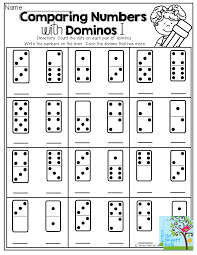 Comparing Numbers Count The Dots On Domino Write Number Color