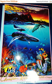 100 Christian Lassen Onsale Whale Song Heavy Duty Hawaiian Pacific Marine Poster Riese Wale Song