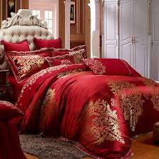 Red and gold bedroom red luxury bedding collections luxury