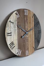 Pallet Wood Clock Round Reclaimed Wood Clock. Beach House Rustic Wall Clock Oversized Oval Roman Numeral 40cm Pallet Wood Diy Youtube Pottery Barn Shelves 16 Image Avery Street Design Co Farmhouse Clocks And Fniture Best 25 Large Wooden Clock Ideas On Pinterest Old Wood Projects Reclaimed Home Do Not Use Lighting City Reclaimed Barn Copper Pipe Round Barnwood Timbr Moss Clock16inch Diameter Products