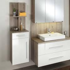 badezimmer unterschrank in weiß hochglanz eiche dunkel 40 cm