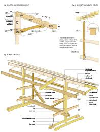 Slant Roof Shed Plans Free by Free Canoe Boat Rack Wood Plans