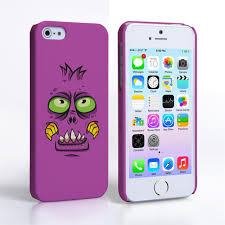 Caseflex iPhone 5 5S Monster Hard Case Purple