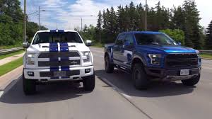 2017 Ford Raptor Vs 700hp Shelby F150 Review - American Legends ... The Shelby F150 700hp In A Pickup Shelbys Two Dodge Trucks Among Collection Going Up For Auction Dakota Wikipedia Ford Capital Raleigh Nc 2013 Svt Raptor First Look Truck Trend Used 2016 4x4 For Sale In Pauls Valley Ok Just A Car Guy Protype Truck That Carroll Kept News 2019 Ford New Interior Luxury Of Confirmed South Africa Carscoza 1920 Information 1000 F350 Dually Smokes Its Tires With Massive Torque