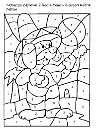 Coloring Worksheets For Kindergarten Kids Easy Color By Number Free Christmas Printables