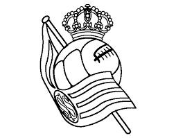 Real Sociedad Crest Coloring Page