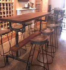 Farmhouse Counter Height Table Industrial Bar Kitchen The In