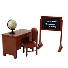 amazon com vintage style wooden school teachers desk chair doll