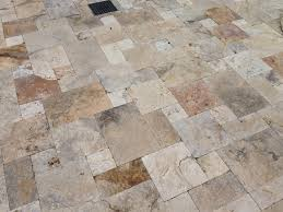 Scabos Travertine Floor Tile by Walnut Noce Silver Scabos Ivory Chestnut Travertine Pavers