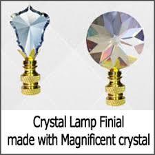 Swarovski Crystal Lamp Finials by All Crystal Lamp Finials At Crystalplace