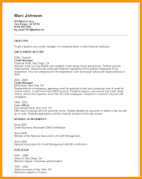 Credit Manager Resume Objective Sample
