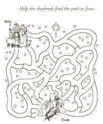 Need A New Set Of Activity Sheets Christian Christmas Looking For Stuff Other Than Santa And Rudolph