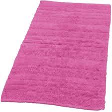 badematte badteppich badezimmerteppich aus baumwolle einfarbig in pink fuchsia