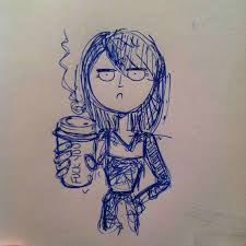 Coffee Sketch Tumblr And Pizza Rolls Yeee I