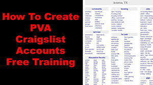 How To Create PVA Craigslist Accounts - Free Training 2018 - YouTube