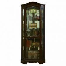 Bennet Mirrored Corner Curio Cabinet