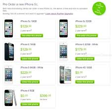TELUS iPhone 5c Pricing $129 for 16GB $229 for 32GB 2 Year