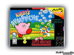 Kirby's Avalanche SNES Super Nintendo Game Case Box Cover Brand New ...