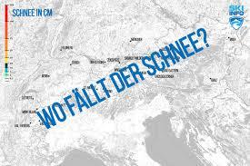 Karte Schneevorhersage Fur Den Alpenraum