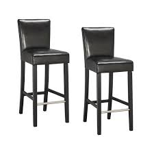 chaises hautes cuisine elvis lot de 2 tabourets de bar simili noir contemporain l 39