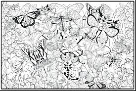 Coloring Pages Butterflies Free Online And Flowers For Adults Spectacular Printable Adult Print Full Size