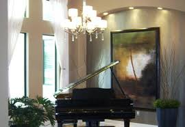 Grand Piano Featured In Modern Home Music Room